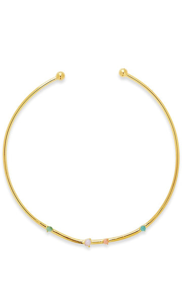 Eyes Ablaze Moonstone Collar Necklace Necklace Sterling Forever Gold