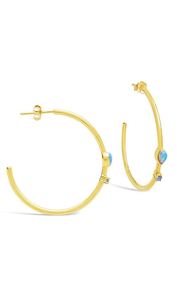 Eyes Ablaze Hoop Earrings - Sterling Forever