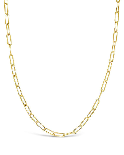 Polished Elongated Cable Chain - Sterling Forever