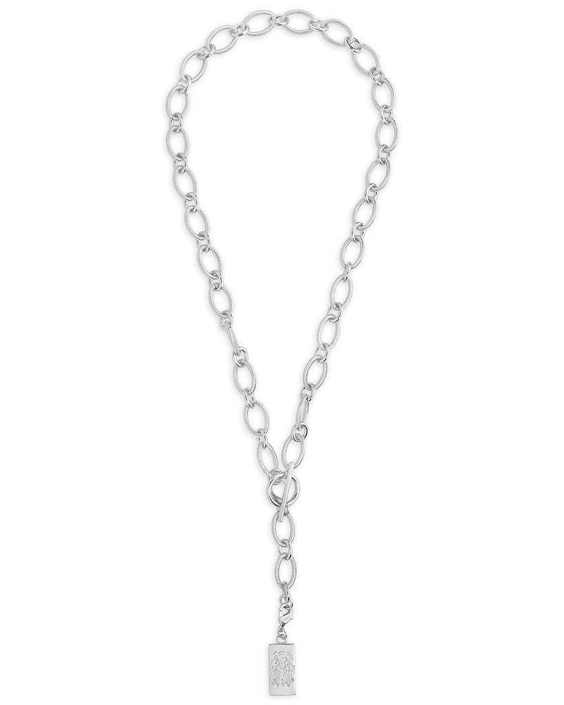 Linked Charm Toggle Necklace - Sterling Forever