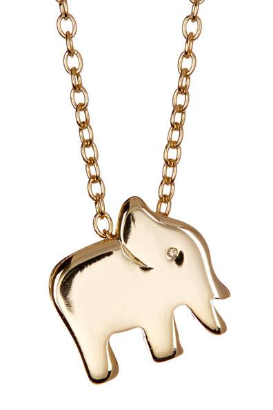 Elephant Charm Necklace Necklace Sterling Forever Gold