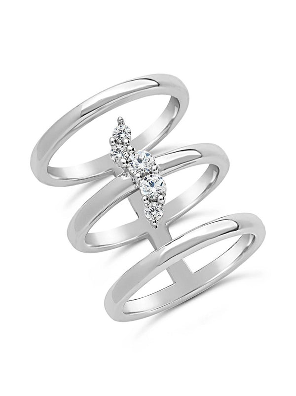 Faye 3 Band Ring - Sterling Forever