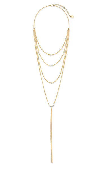 Faye Choker Layer Y Necklace Necklace Sterling Forever Gold