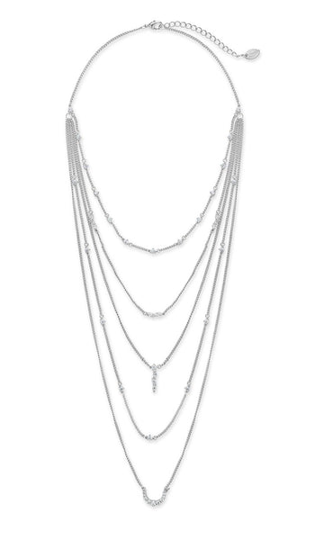 Faye Multi Layer Necklace Necklace Sterling Forever Silver