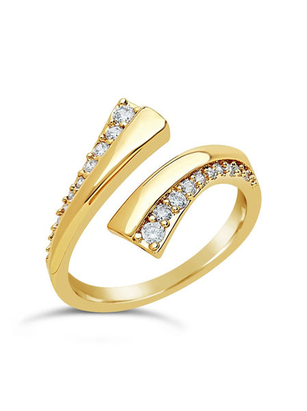 Faye Open Ring Ring Sterling Forever Gold 5