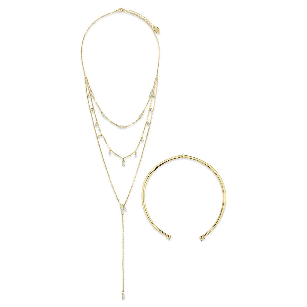 Flamed Passion Collar & Lariat Necklace - Sterling Forever