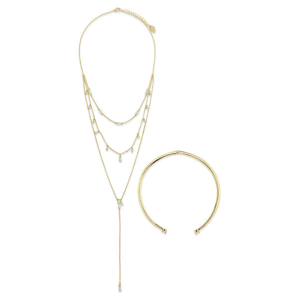 Flamed Passion Collar & Lariat Necklace Necklace Ali Levine Gold
