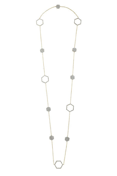 Geo Daze Station Necklace - Sterling Forever