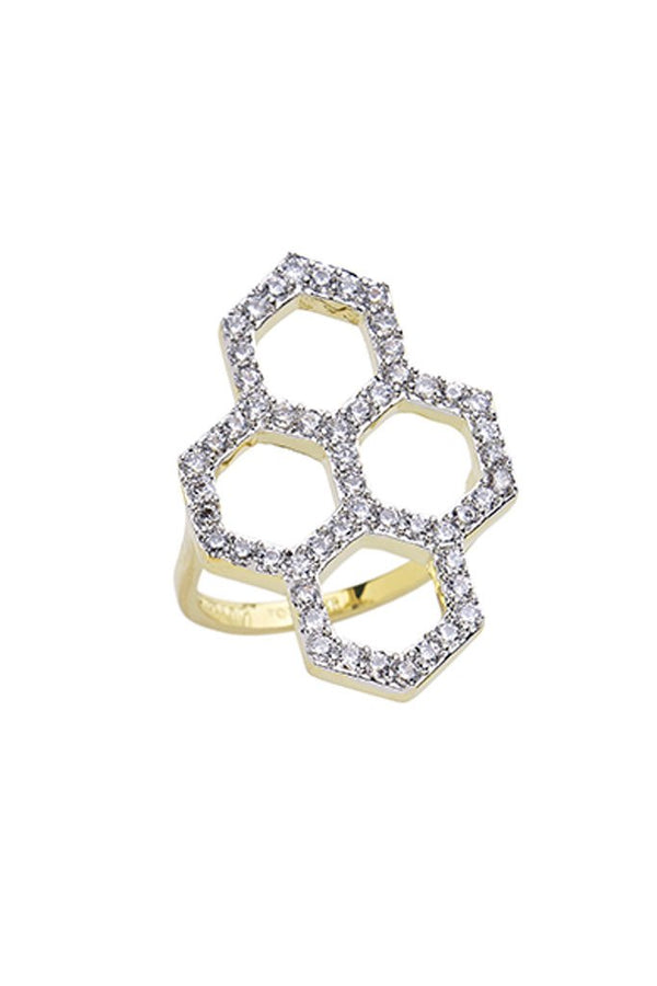 Geo Daze Open Statement Ring - Sterling Forever