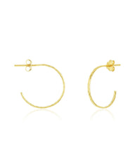 Sterling Silver Mini Hammered Hoops Earring Sterling Forever Gold