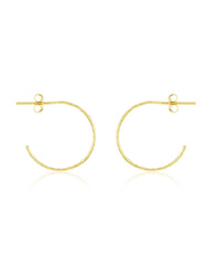 Sterling Silver Mini Hammered Hoops Earring Sterling Forever