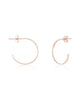 Sterling Silver Mini Hammered Hoops Earring Sterling Forever Rose Gold