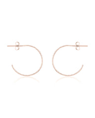 Sterling Silver Mini Hammered Hoops