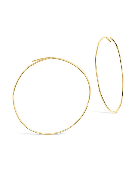 Sterling Silver Threader Hoop Earrings