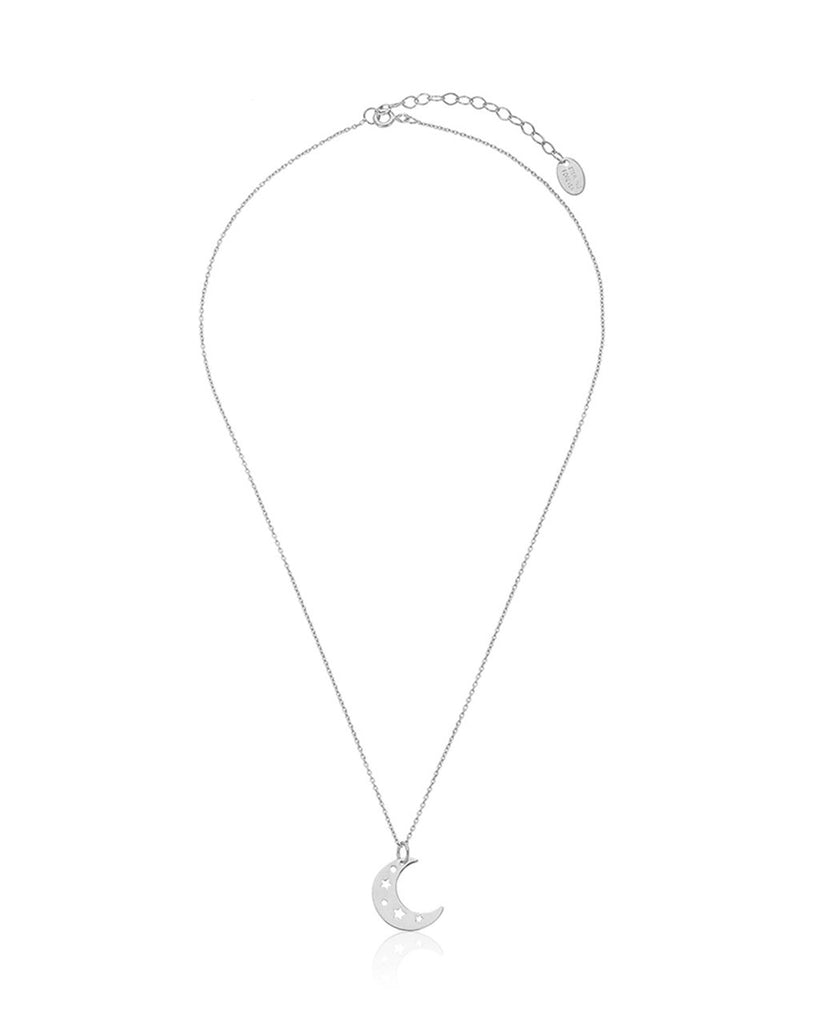 Sterling Silver Moon Charm Pendant Necklace - Sterling Forever
