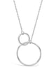 Sterling Silver Interlocking Open Circle Pendant