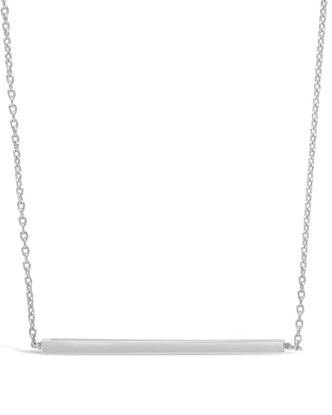 Sterling Silver Thin Bar Necklace Necklace Sterling Forever Silver