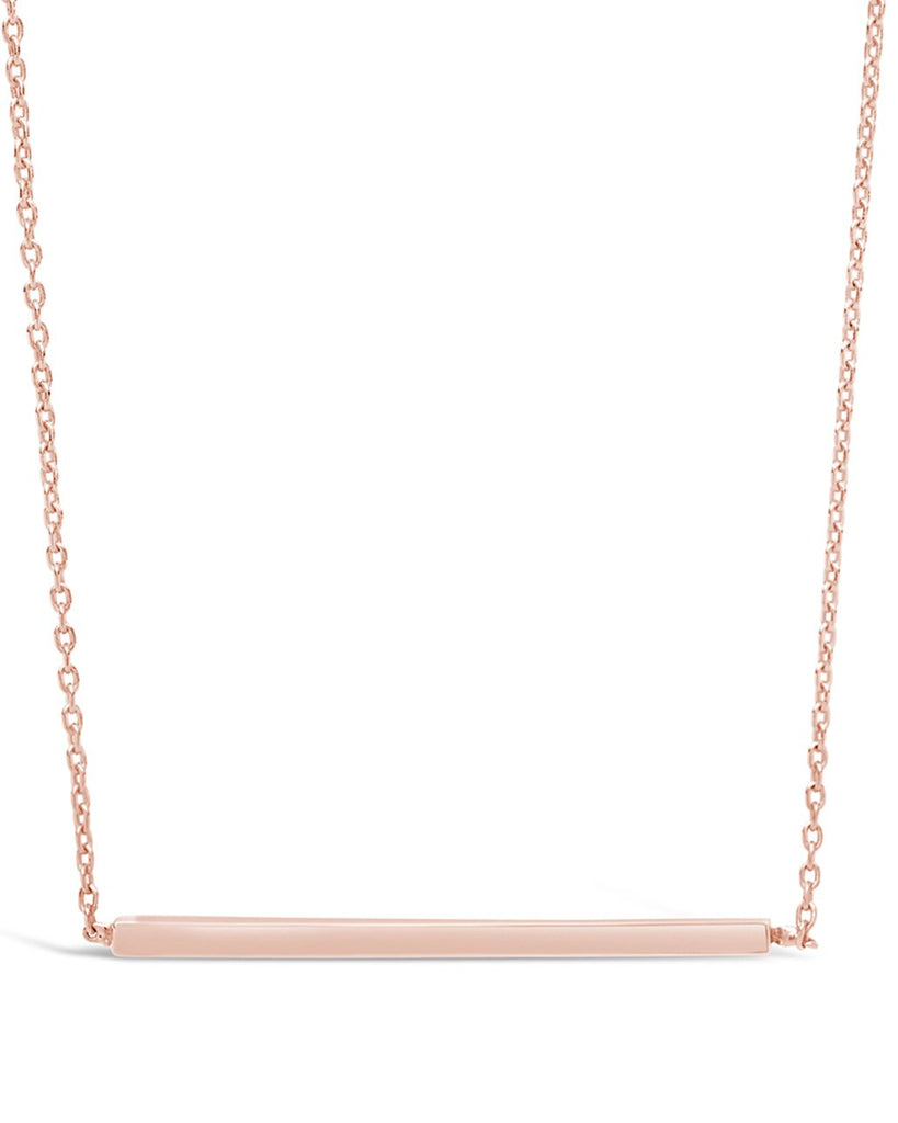 Sterling Silver Thin Bar Necklace - Sterling Forever