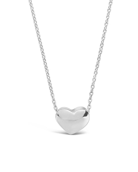 Sterling Silver Heart Pendant Necklace Necklace Sterling Forever Silver