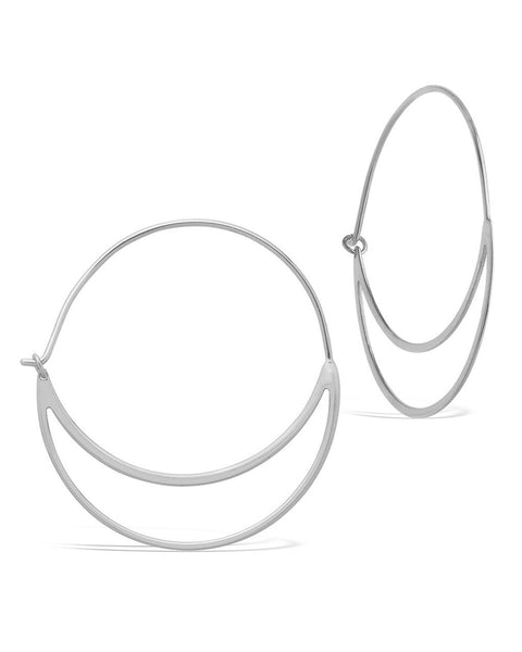 Delicate Double Hoop Earrings Earring Sterling Forever