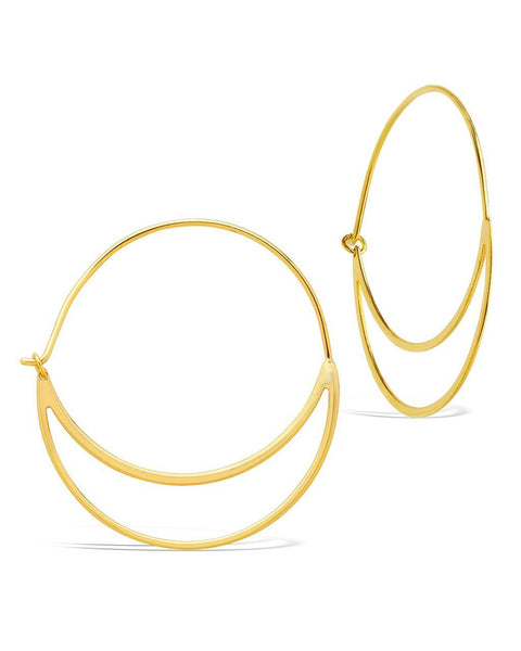 Delicate Double Hoop Earrings - Sterling Forever