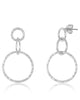 Sterling Silver Hammered Triple Drop Earrings - Sterling Forever