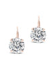 Sterling Silver CZ Lever Back Earrings