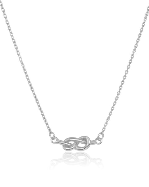 Sterling Silver Infinity Love Knot Necklace Necklace Sterling Forever Silver