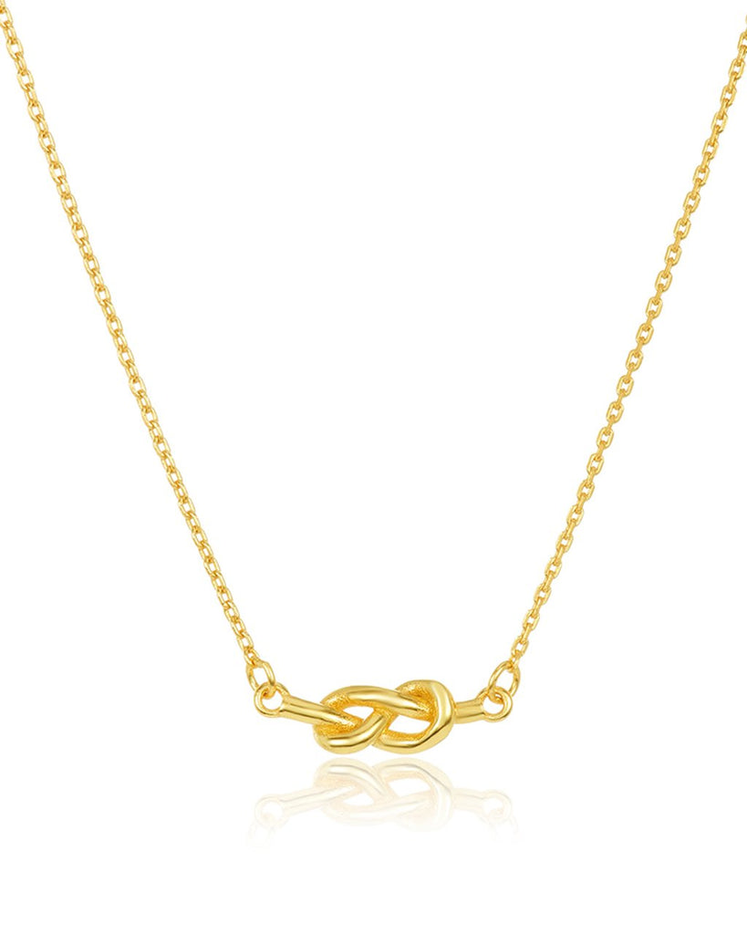 Sterling Silver Infinity Love Knot Necklace