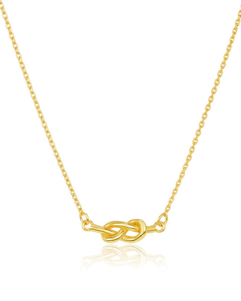 Sterling Silver Infinity Love Knot Necklace Necklace Sterling Forever Gold