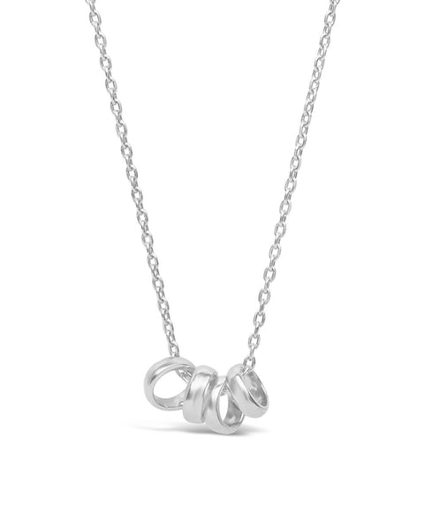 Sterling Silver 4 Ring Necklace