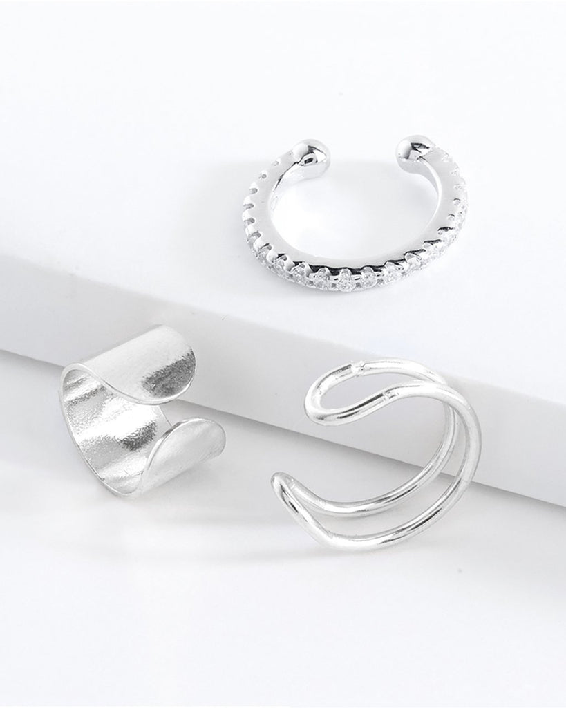 Simple Ear Cuff Set of 3 - Sterling Forever