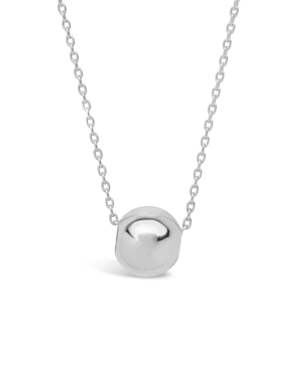 Sterling Silver Bead Pendant Necklace - Sterling Forever