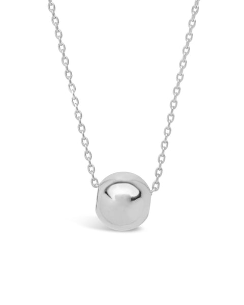 Sterling Silver Bead Pendant Necklace