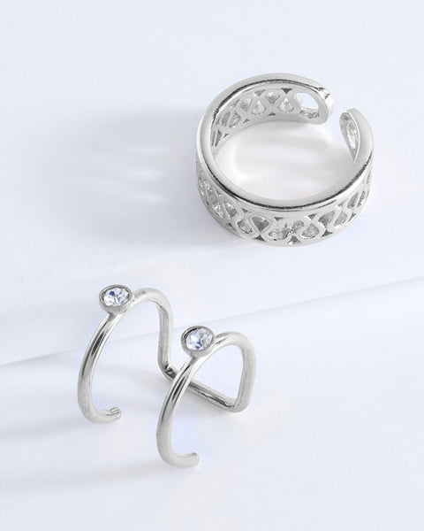 Curves Ear Cuff Set of 2 - Sterling Forever