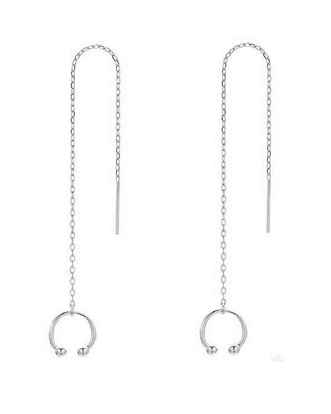 Sterling Silver Simple Ear Cuff with Threader Earrings - Sterling Forever