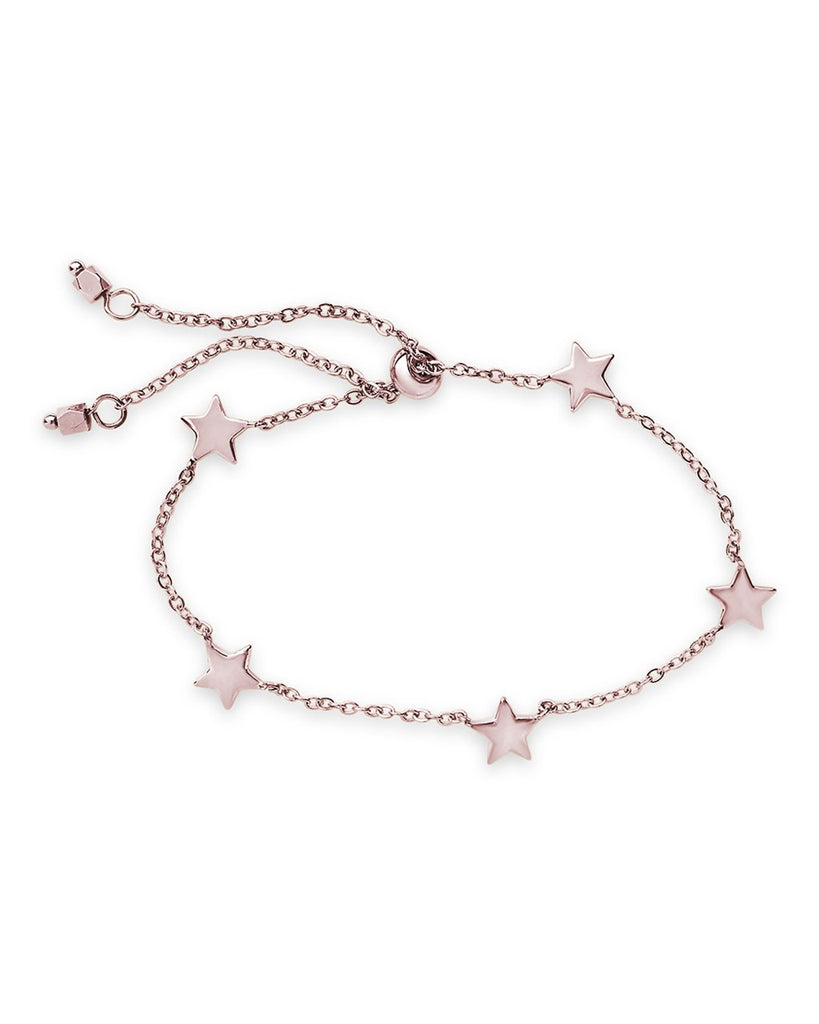 Sterling Silver Multi Star Slider Bracelet - Sterling Forever
