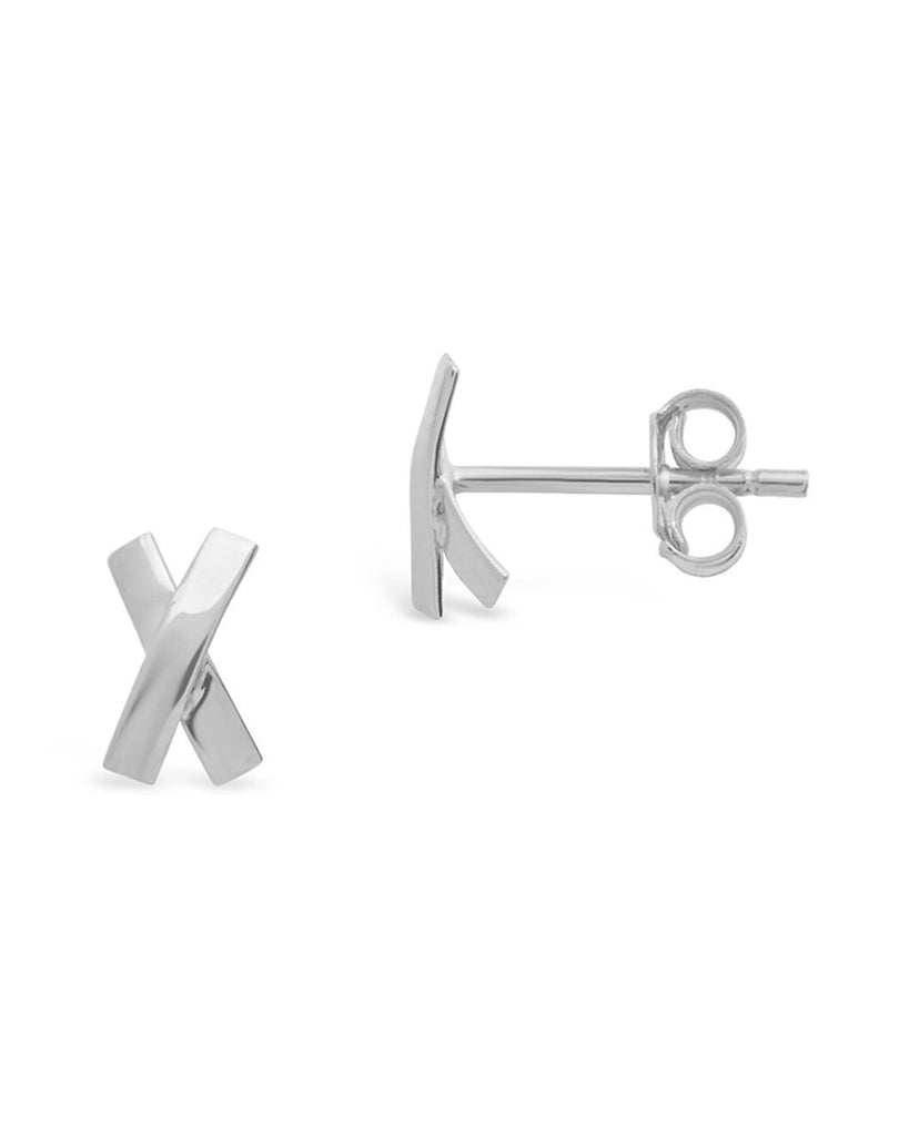 Sterling Silver X Stud Earrings - Sterling Forever
