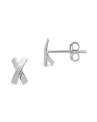 Sterling Silver X Stud Earrings
