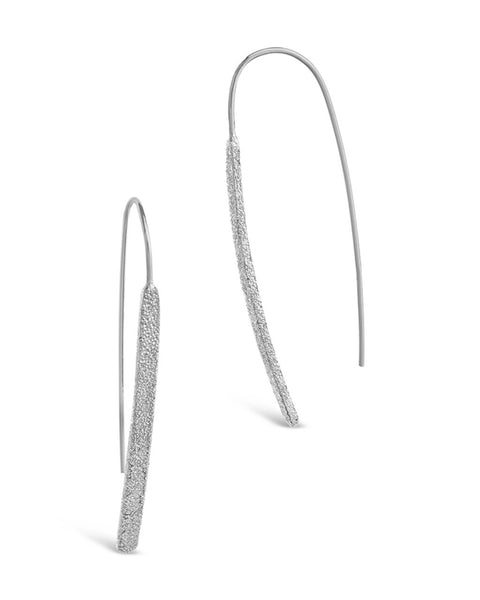 Sterling Silver Textured Threader Earrings