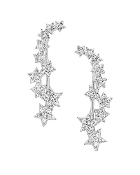 CZ Star Ear Crawlers - Sterling Forever