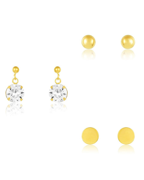 Sterling Silver Essential Earring Set of 3 - Sterling Forever