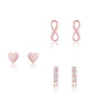 Sterling Silver Heart & Infinity Earring Set of 3 - Sterling Forever