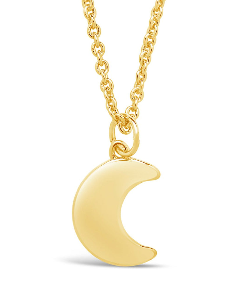 Mini Moon Charm Necklace - Sterling Forever