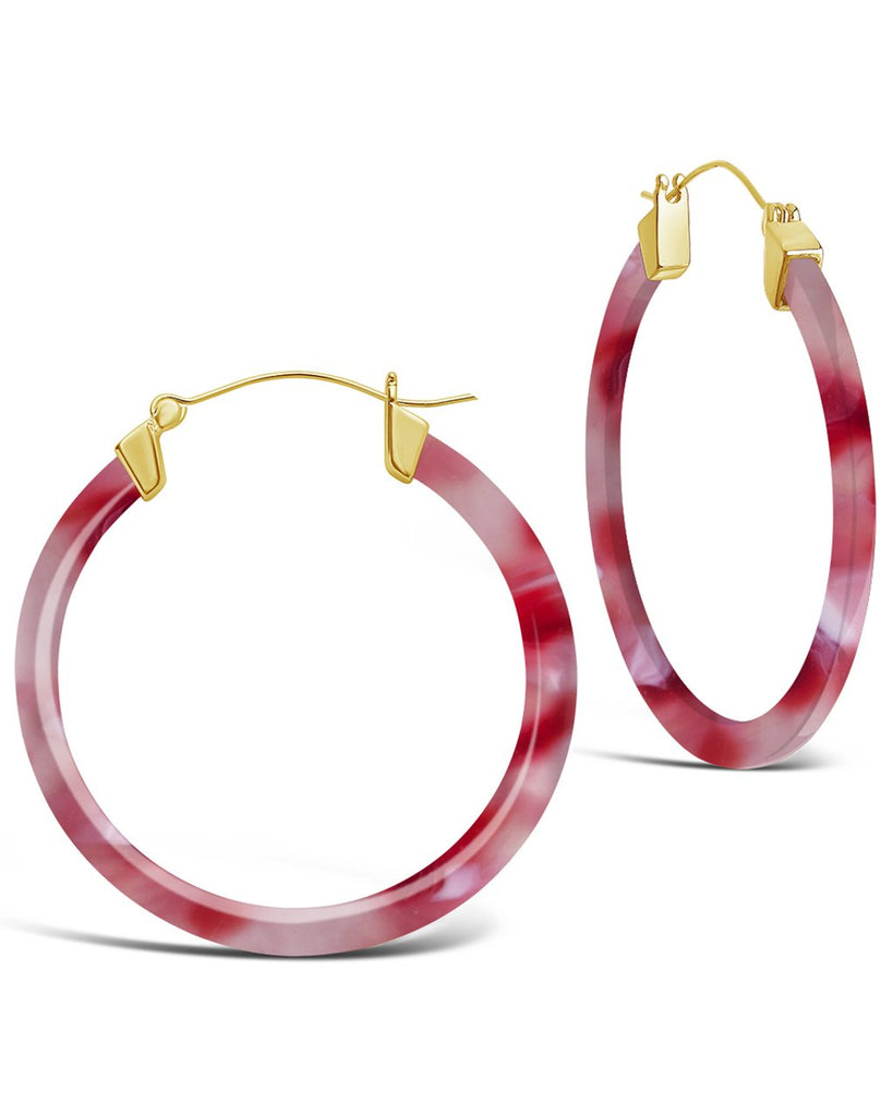 50mm Resin Hoop Earrings - Sterling Forever