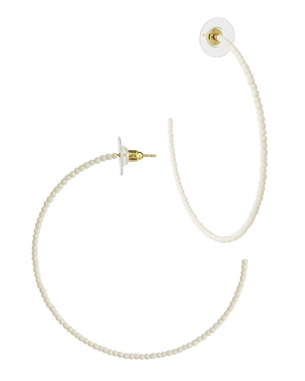 "2"" Micro Beaded Hoops - Sterling Forever"