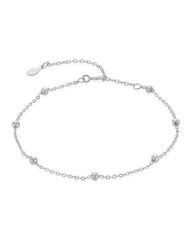 Sterling Silver Beaded Dainty Bracelet