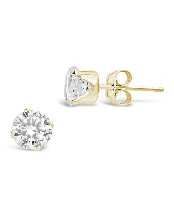 Sterling Silver CZ Stud Earrings - Sterling Forever