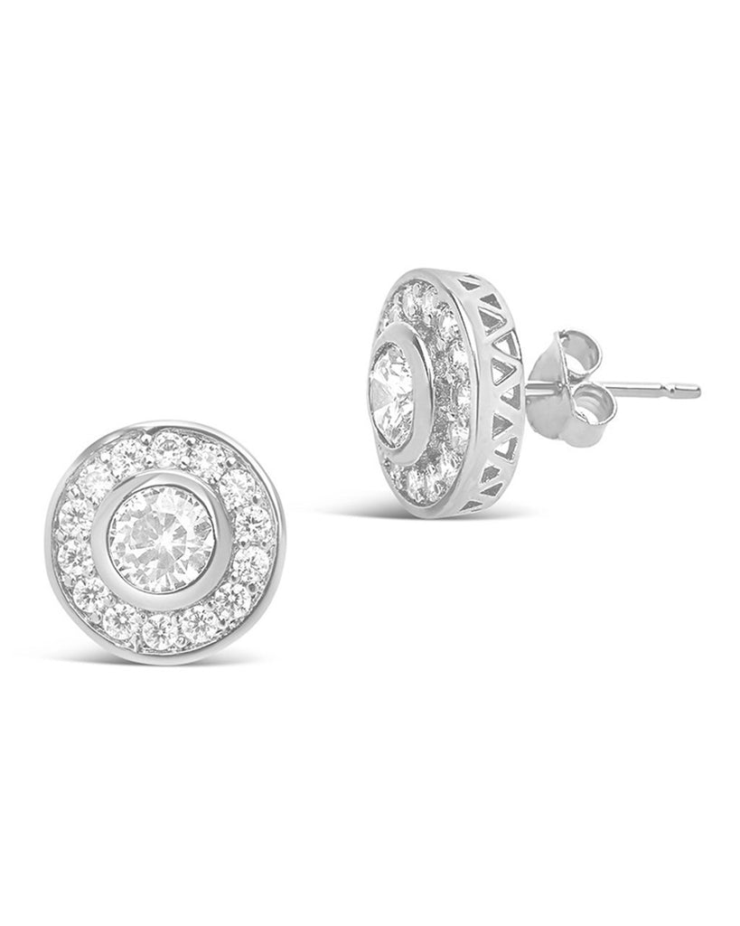 Sterling Silver Circlet CZ Stud Earrings - Sterling Forever