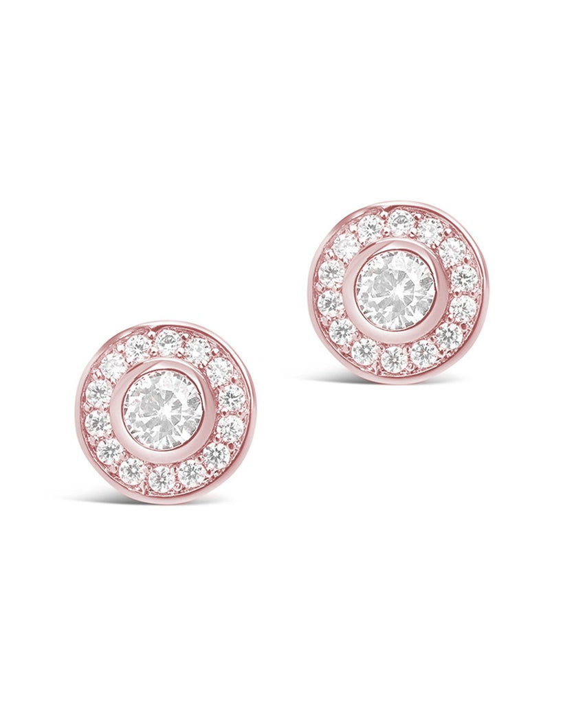 Circlet CZ Stud Earrings - Sterling Forever